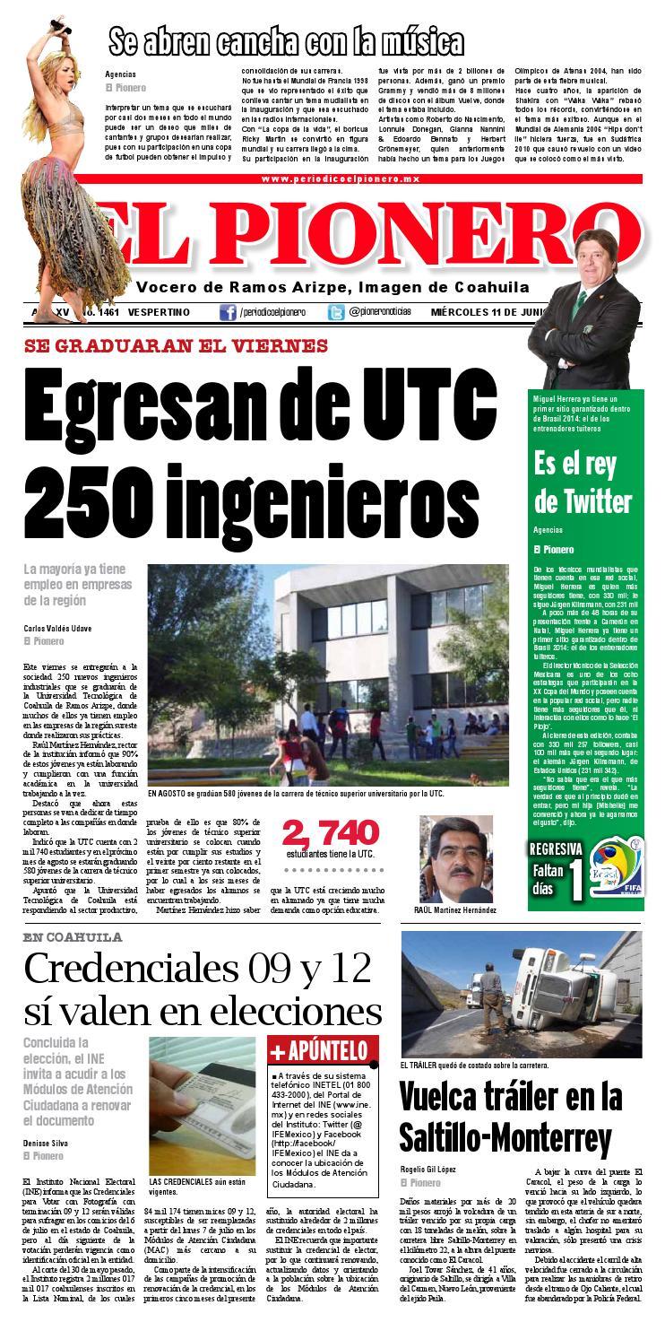 11 Junio 2014 By Periódico El Pionero Issuu
