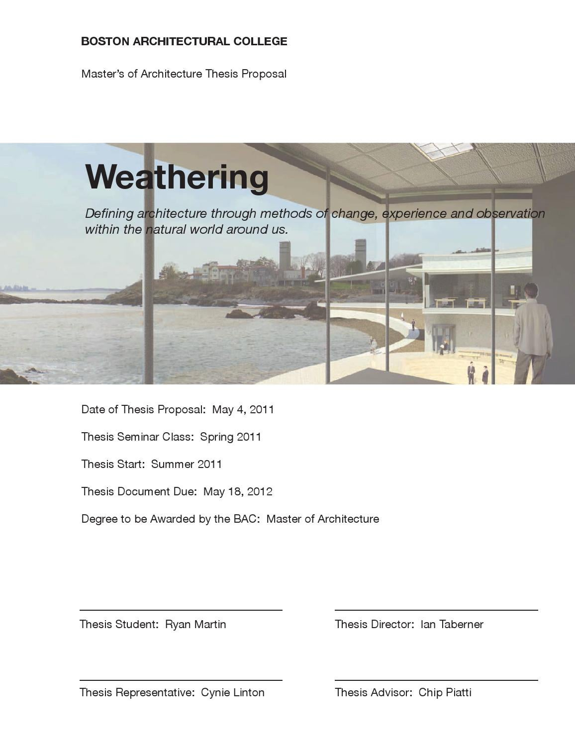 architecture thesis projects download