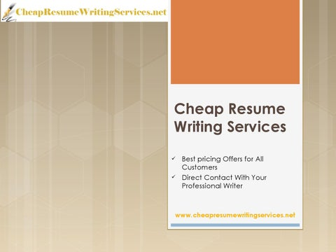 cheap resume writing services - Cheap Resume Services