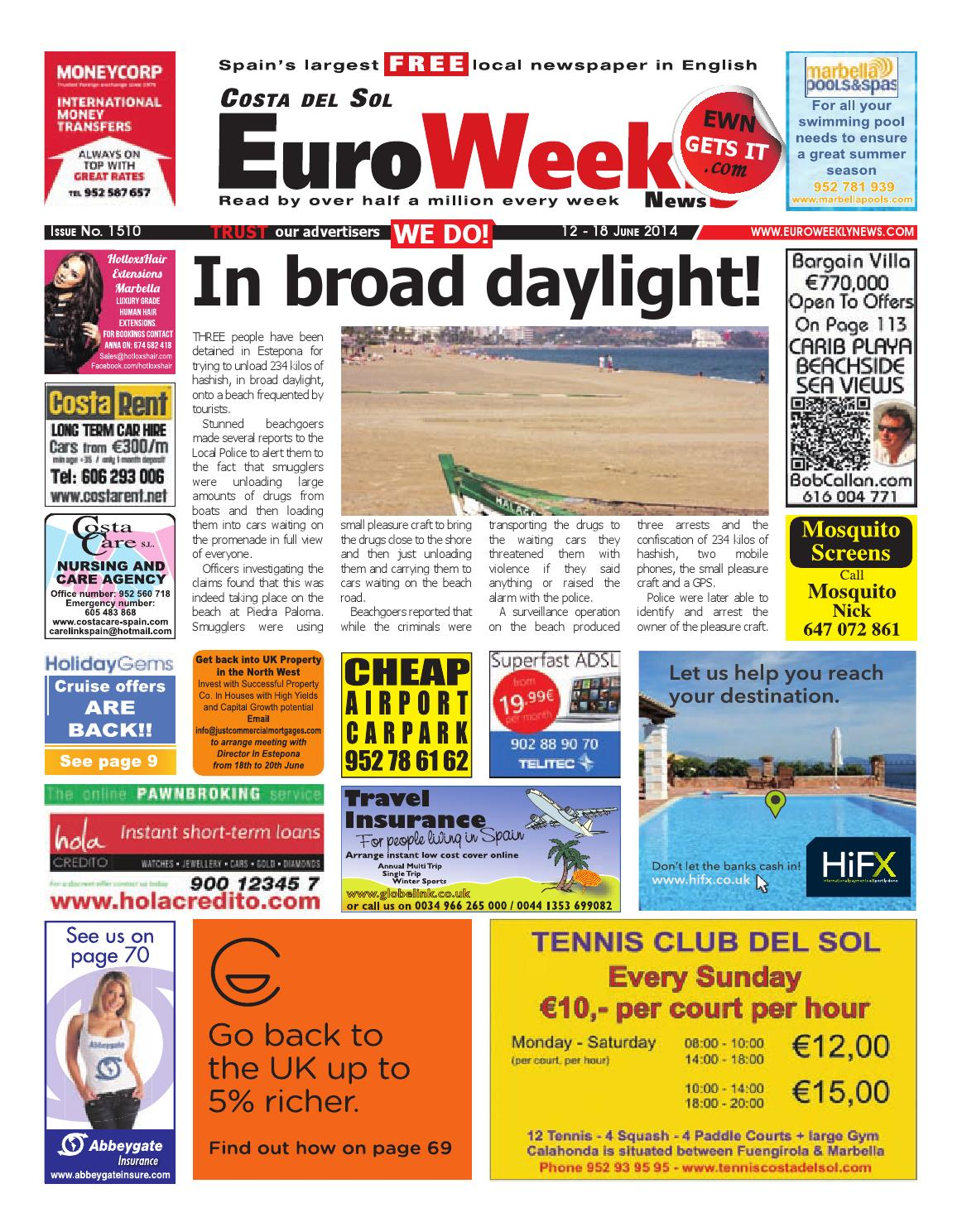 Euro weekly news costa del sol 12 18 june 2014 issue 1510 by euro weekly news costa del sol 12 18 june 2014 issue 1510 by euro weekly news media sa issuu fandeluxe Images