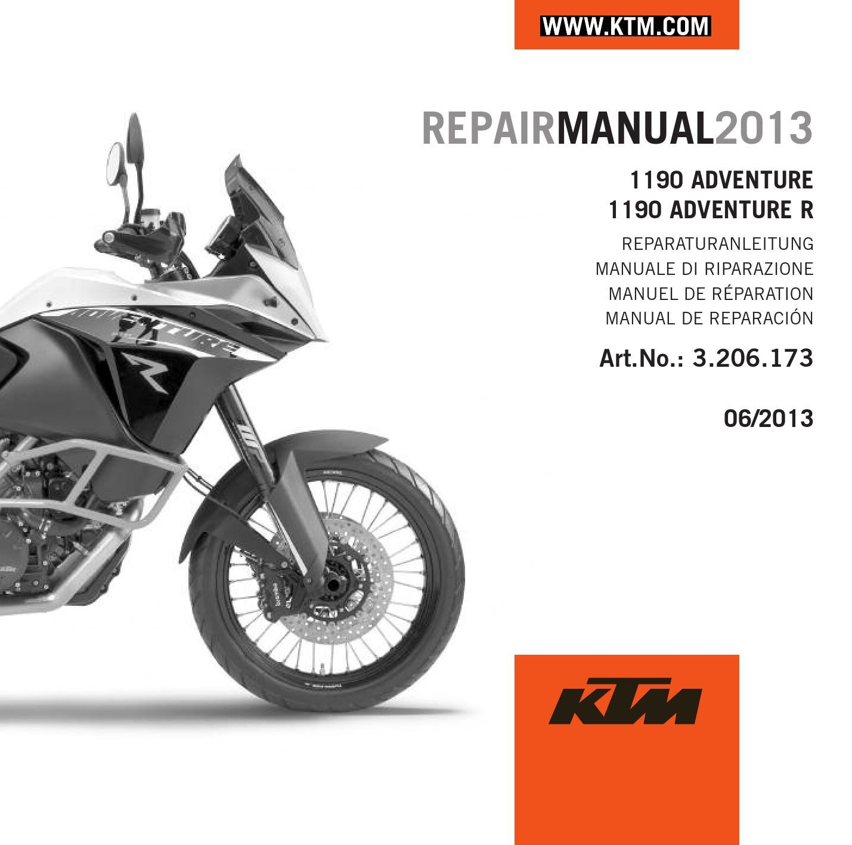 ktm 1190 adventure repair manual 2013 cd cover by ktm lc8. Black Bedroom Furniture Sets. Home Design Ideas