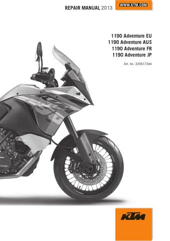 ktm 1190 adventure repair manual 2013 en by ktm lc8 issuu rh issuu com ktm 990 smr service manual ktm 990 smt service manual pdf