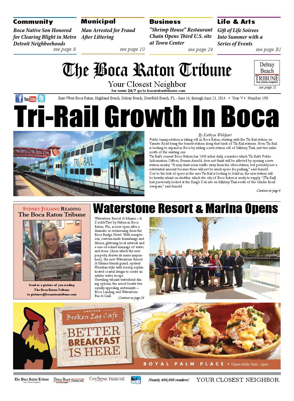 The Boca Raton Tribune ED 190 by The Boca Raton Tribune - issuu