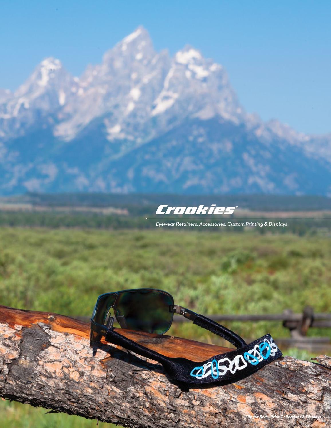Croakies Kids Solids Washable Regular Black Durable//Adjustable Eyewear Retainer