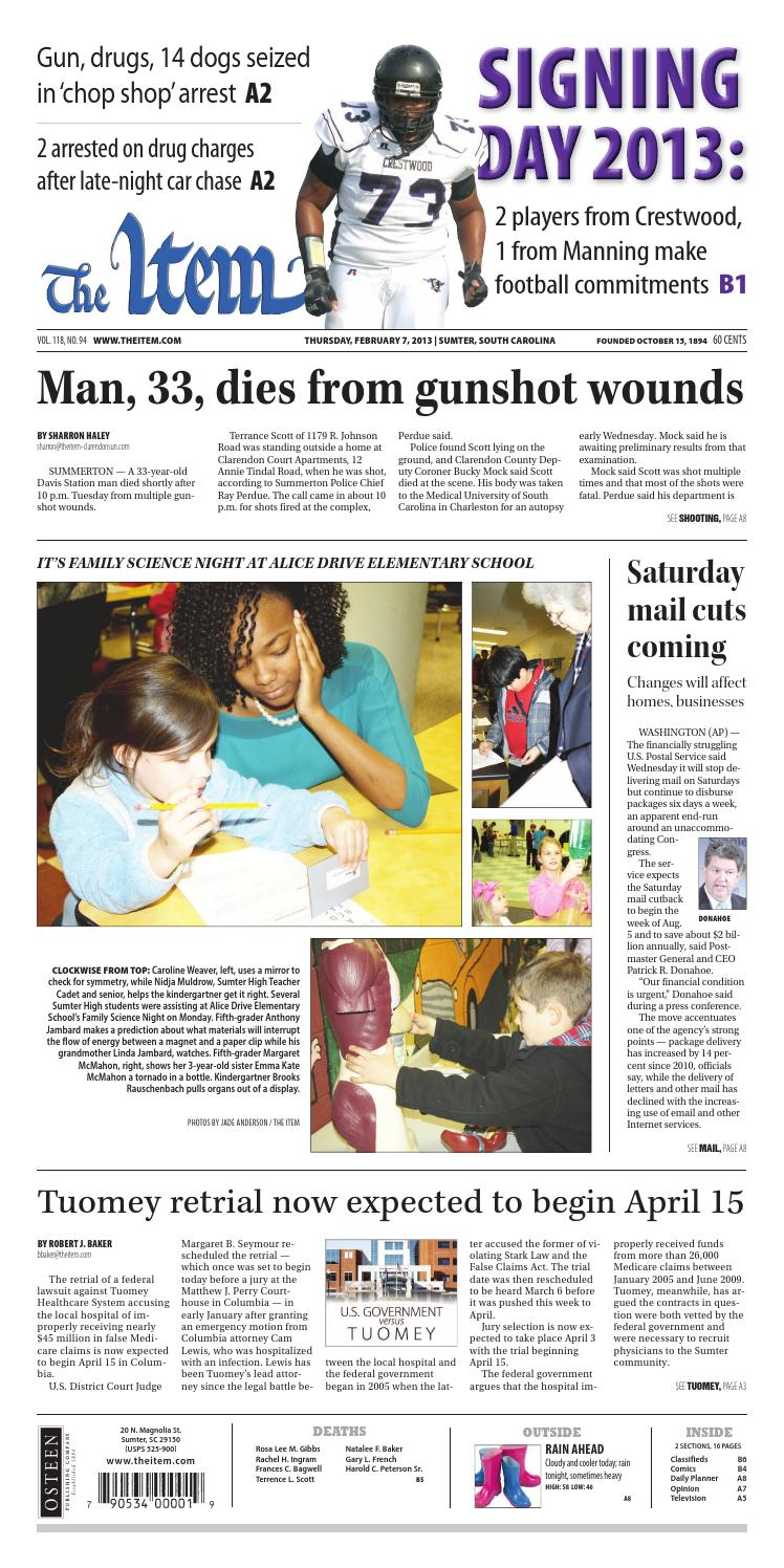 February 7, 2013 by The Sumter Item - issuu