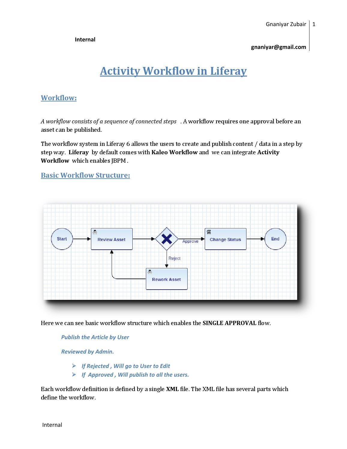 Activity workflow in liferay by satish babu issuu ccuart Gallery