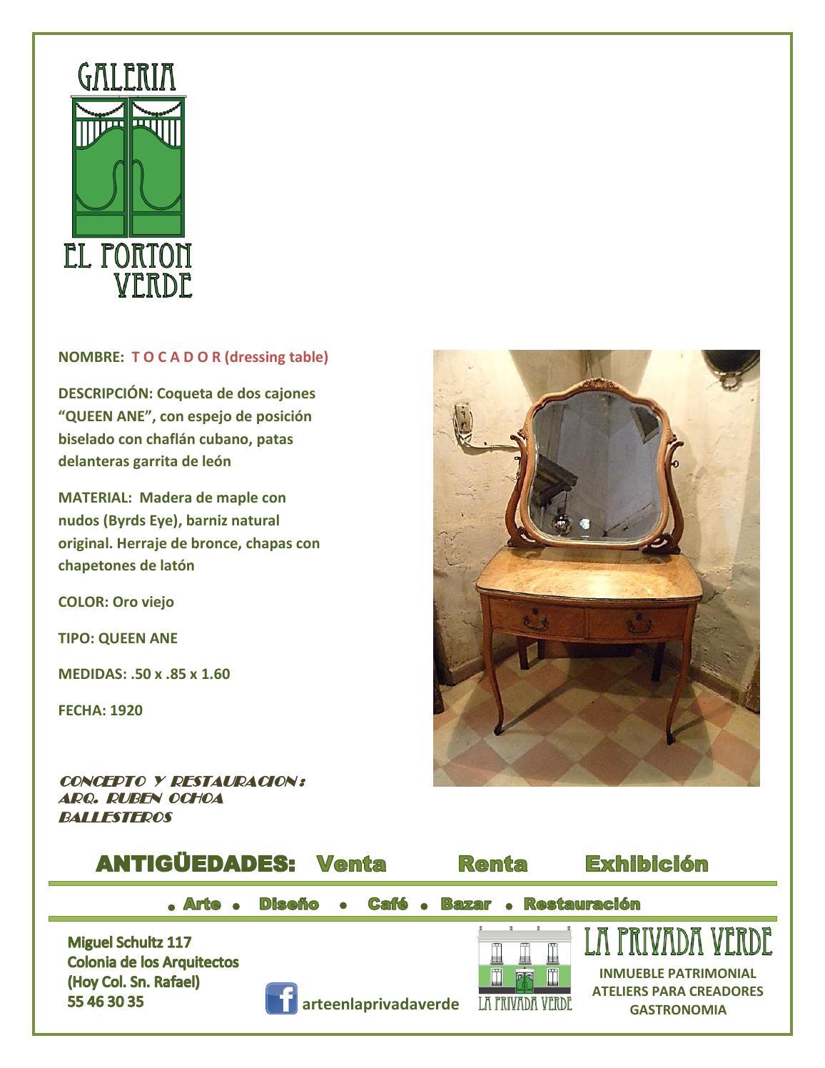 Catalogo de muebles antiguos by powerwolf5000 issuu - Catalago de muebles ...