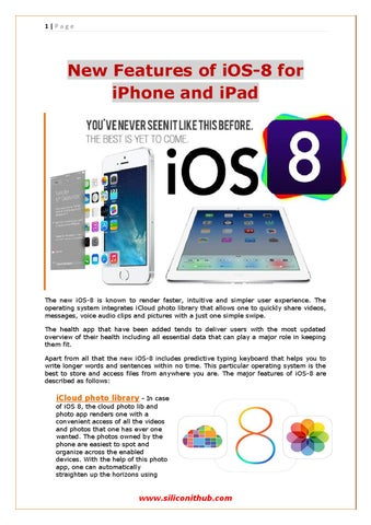 Check out New Functionality of iOS-8 for iPhone and iPad by