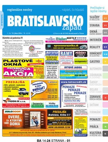 4d889720ebcda Bratislavsko 14 24 by Bratislavsko Bratislavsko - issuu