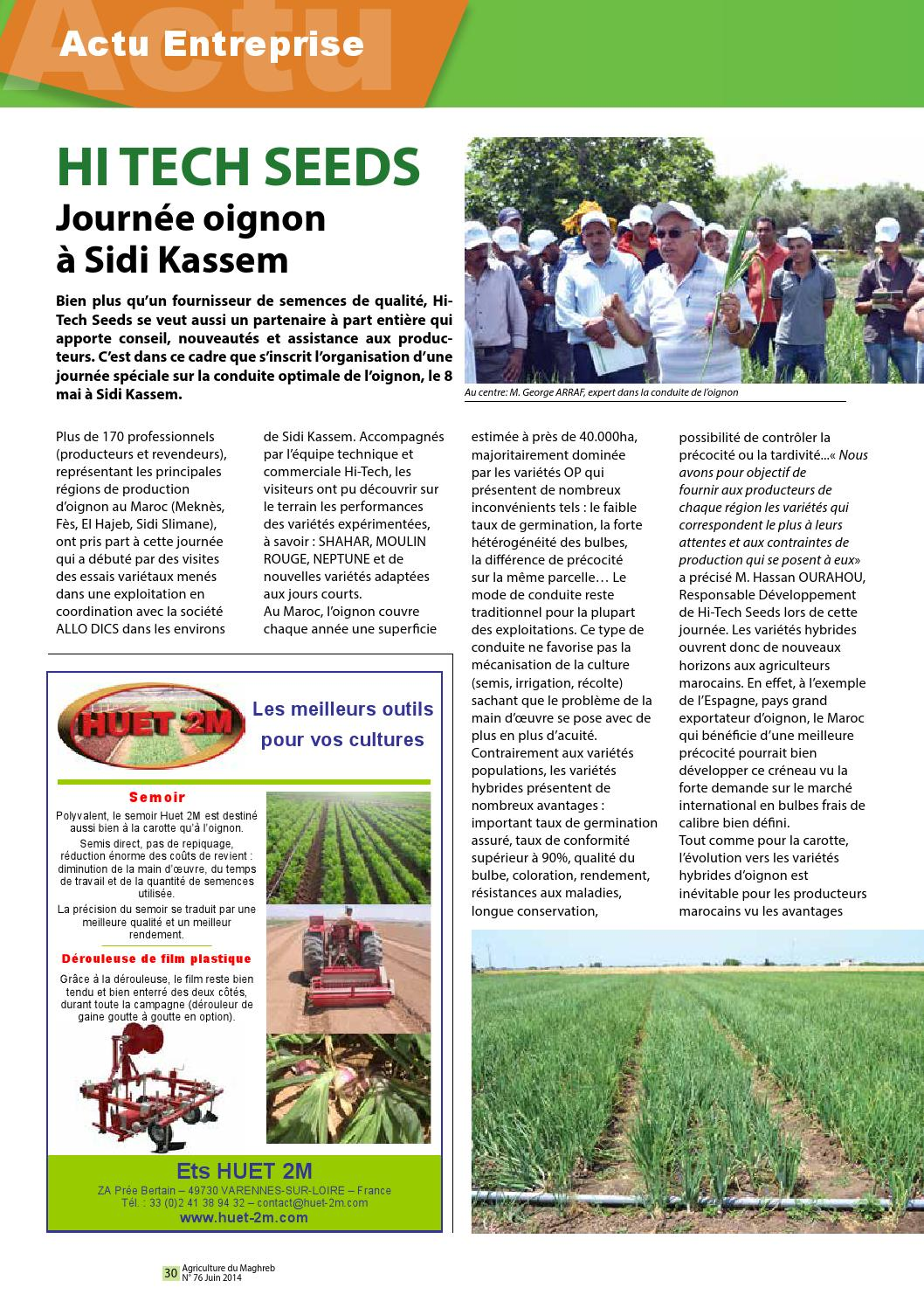 Culture De L Oignon Rouge agriculture du maghreb n° 76agriculture maghreb - issuu