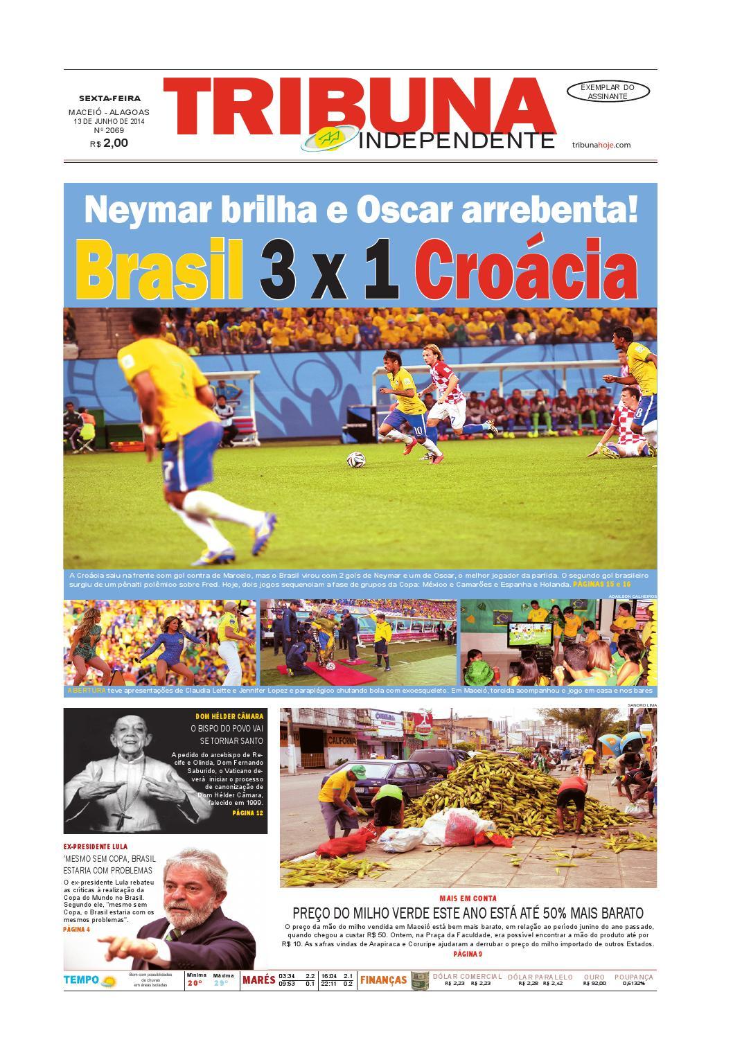 0fe68601335af Edição número 2069 - 13 de junho de 2014 by Tribuna Hoje - issuu