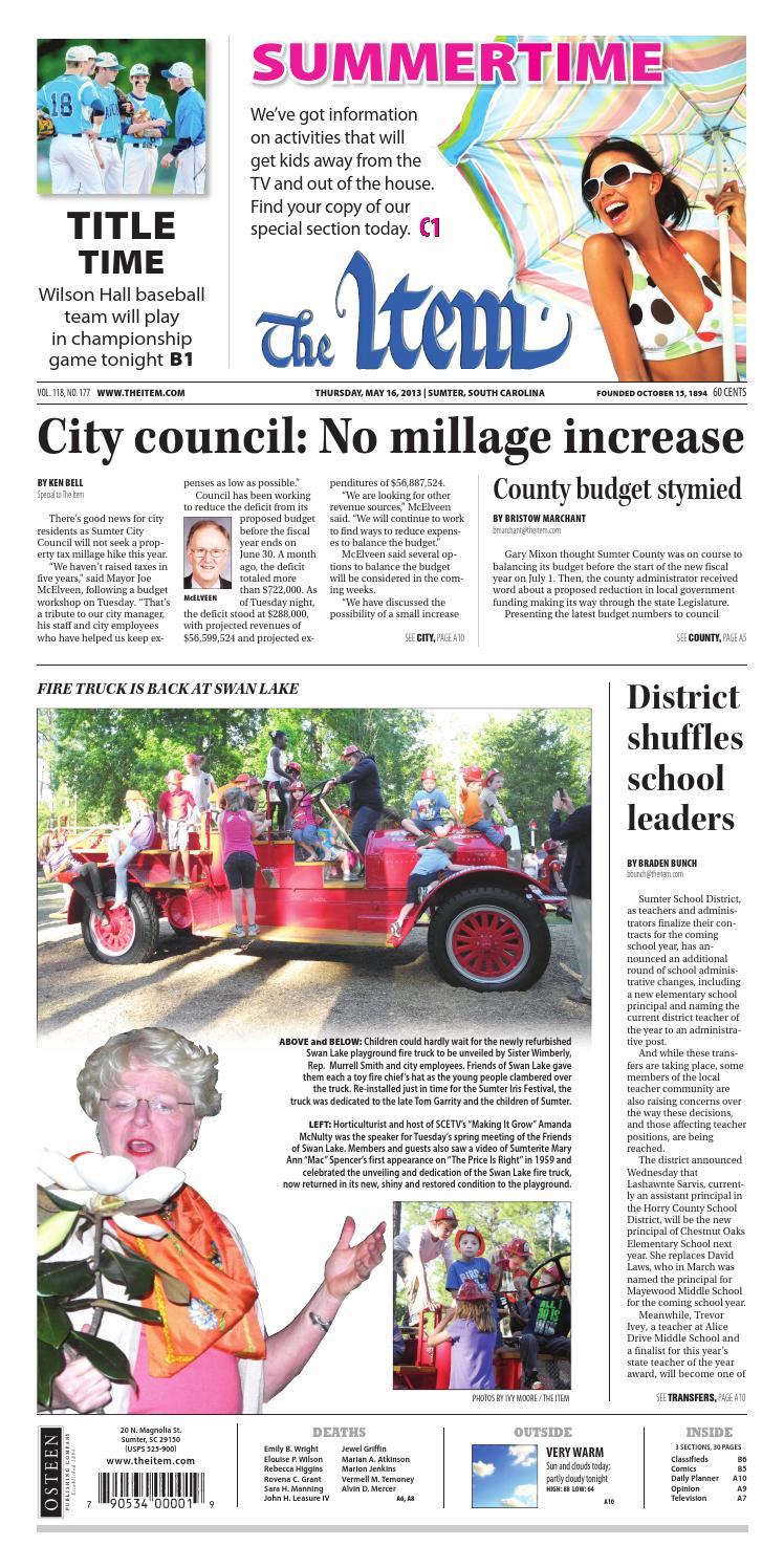 May 16, 2013 by The Sumter Item - issuu