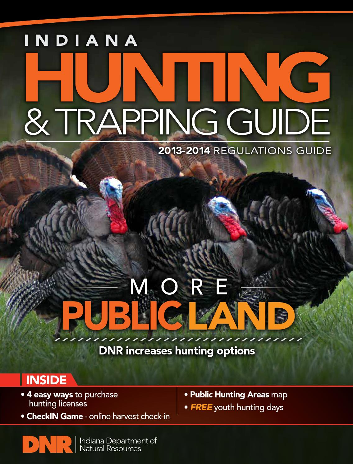 Indiana hunting trapping guide by bookletia issuu for Indiana hunting and fishing license
