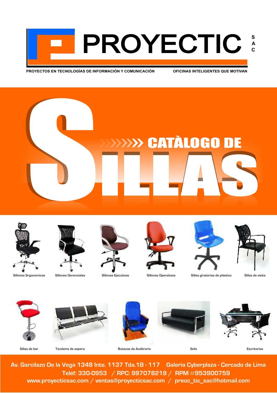 Proyectic catalogo de sillas by proyectic issuu for Catalogo de sillas
