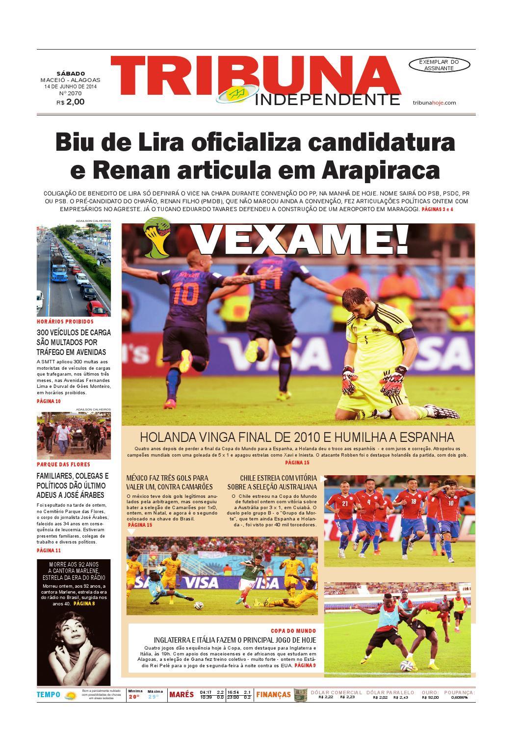 36ebc7ac50 Edição número 2070 - 14 de junho de 2014 by Tribuna Hoje - issuu