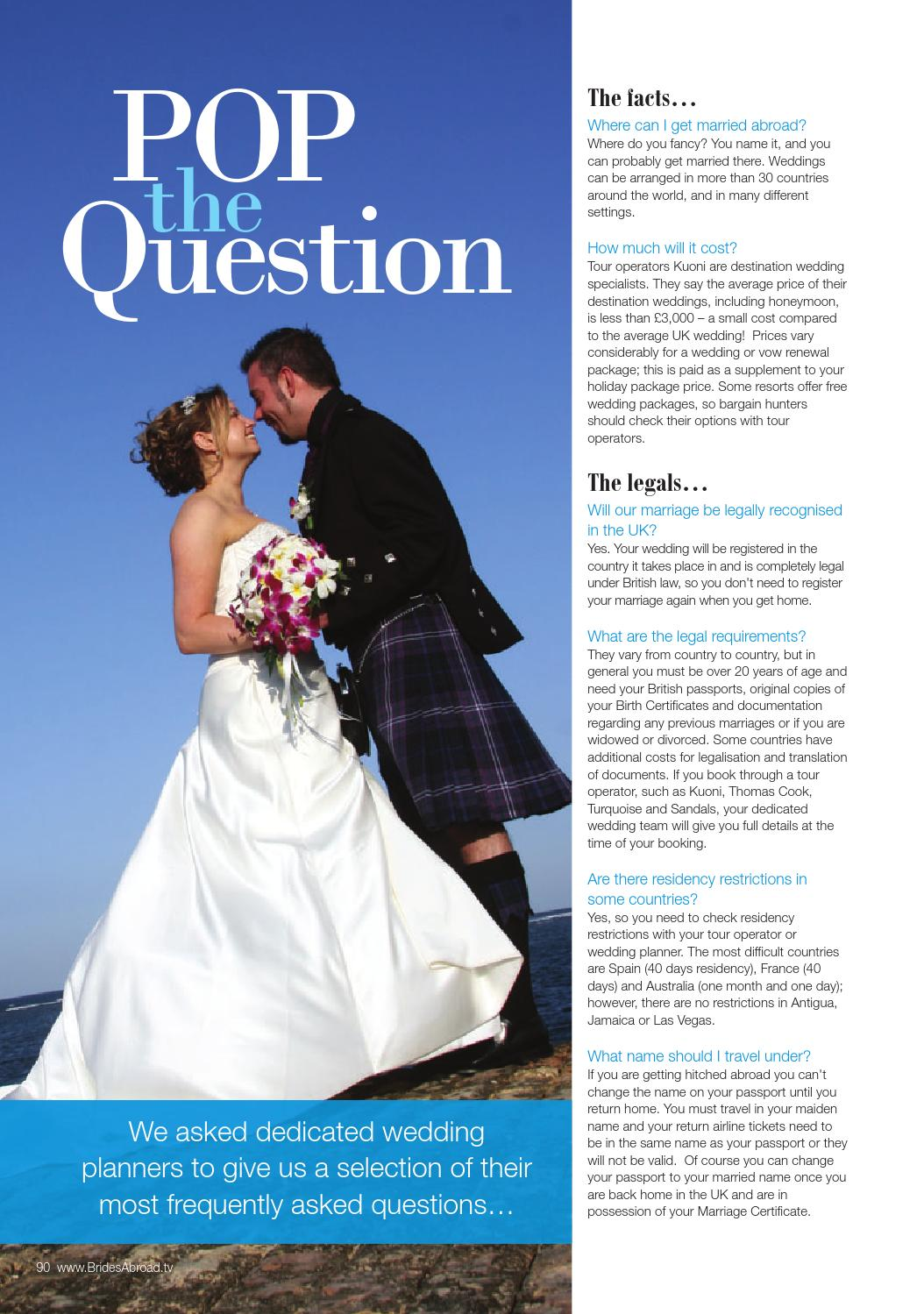 Average Cost Of A Small Wedding.Brides Abroad Issue 12 By Joint Venture Media Issuu