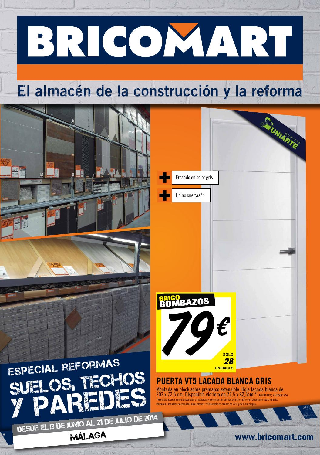 Bricomart folleto malaga malaga 09 06 2014 by for Puertas bricomart