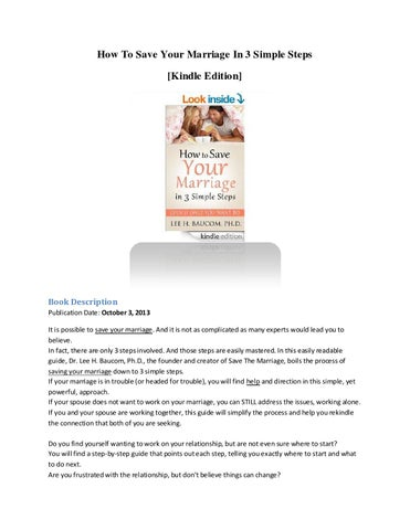 How To Save Your Marriage In 3 Simple Steps Kindle Edition By Best