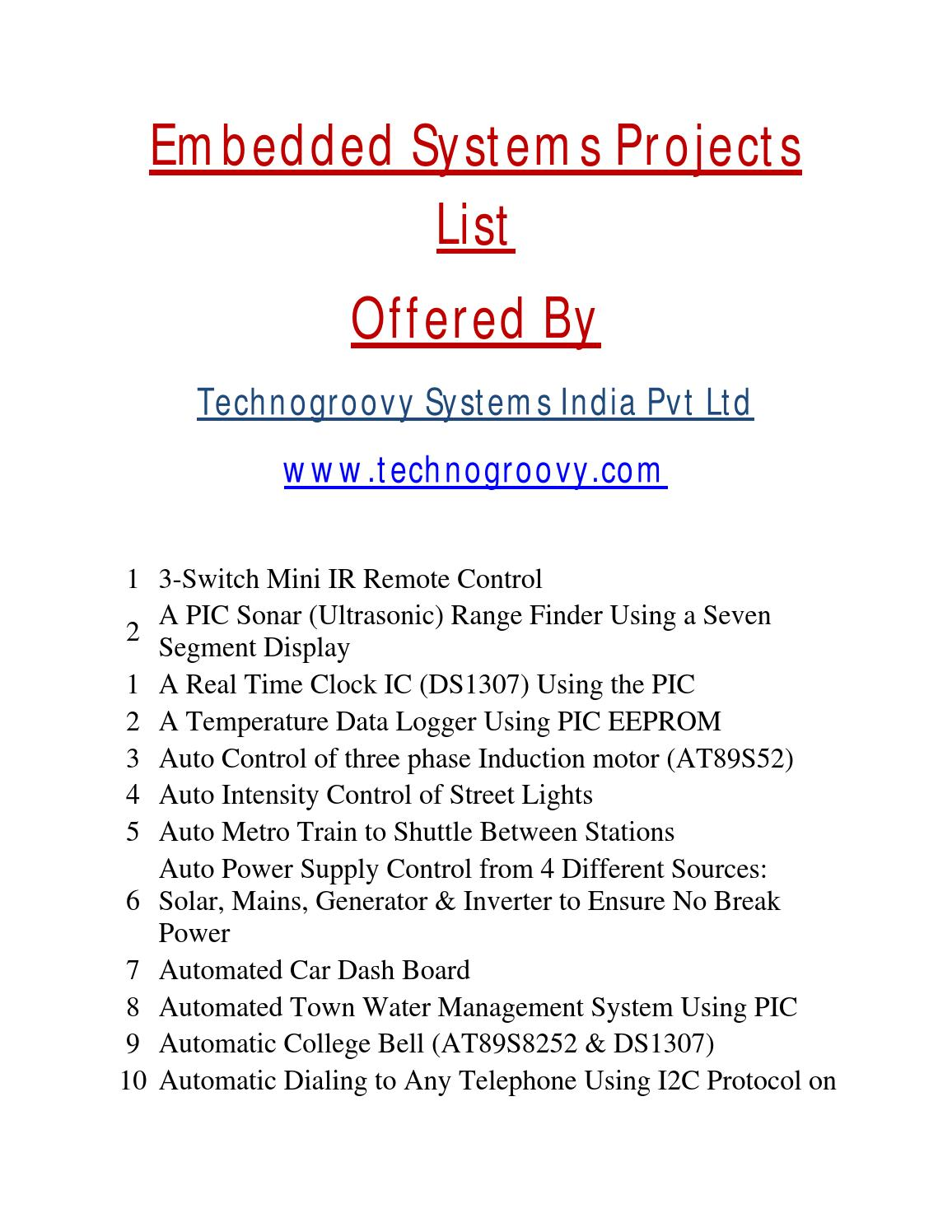 List Of Embedded Systems Projects 2014 By Technogroovy Issuu Digital Code Lock Project Using 8051 Microcontroller At89c51 With