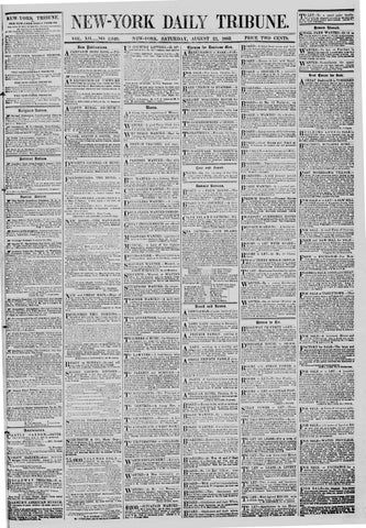 New York Tribune 3540 21 August 1852 By Derosnec Issuu