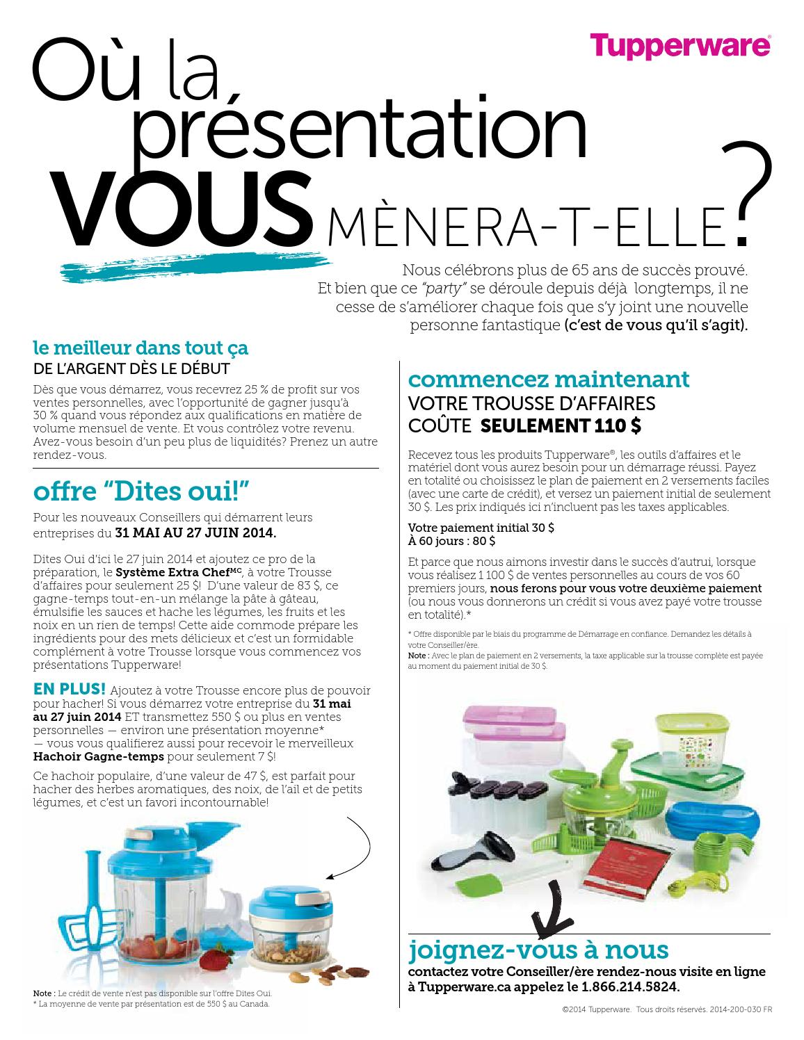 Offre Dites Oui By Nathalie Tupperware Catalogues