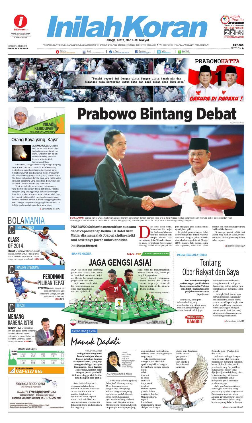 Prabowo Bintang Debat by inilah koran - issuu
