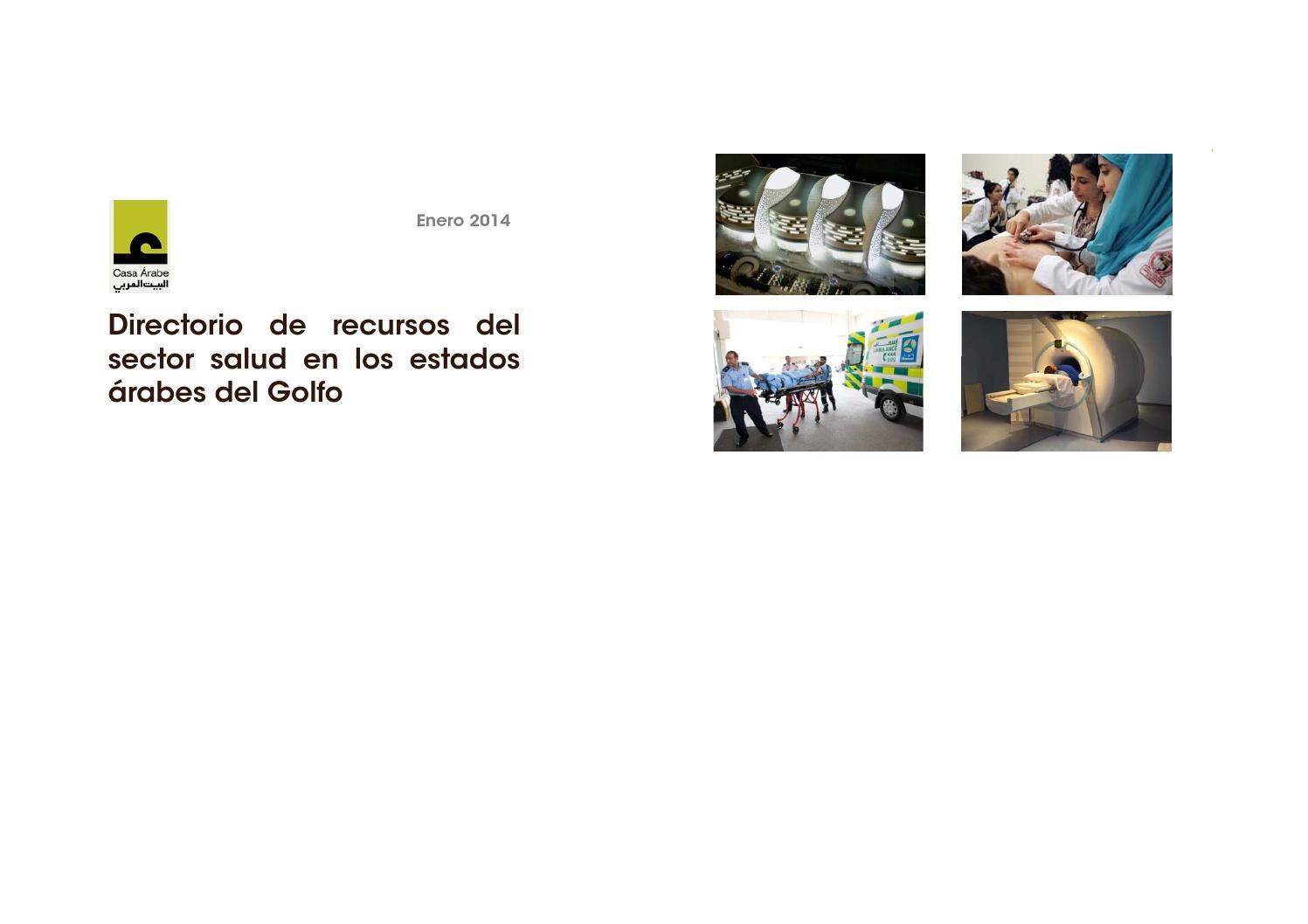 Directorio de recursos del sector salud en el Golfo by Casa Árabe ...