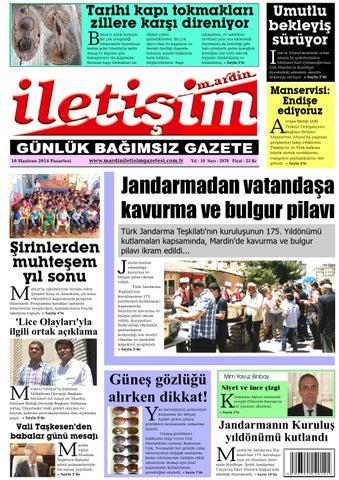 16 Haziran 2014 Tarihli Gazete By Mardin Iletisim Gazetesi Issuu