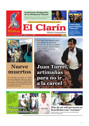 16 06 2014 by el clarín cajamarca issuu