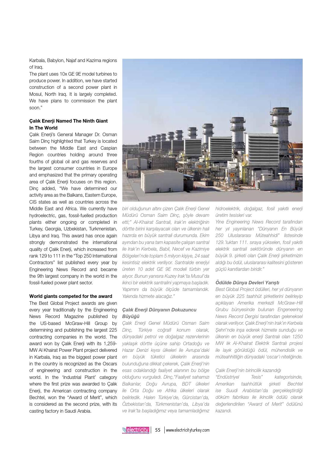 Electricity Turkey Magazine July / haziran 2014 by