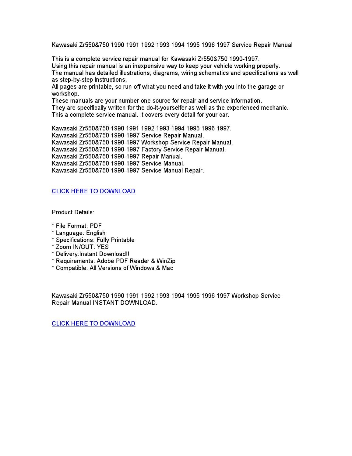 Zr 550 Service Manual