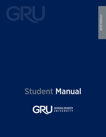 Gru Student Manual By Augusta University Issuu