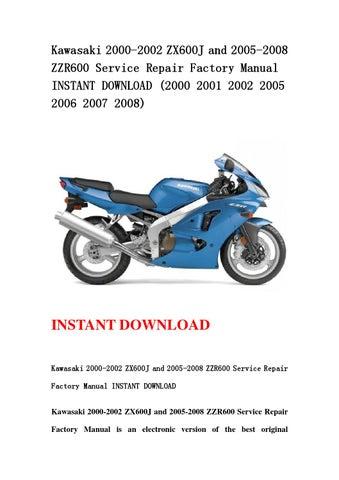 kawasaki 2000 2002 zx600j and 2005 2008 zzr600 service repair rh issuu com 07 ZZR 600 2000 ZZR 600