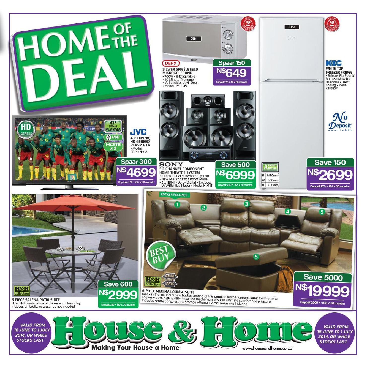 house home catalogue namibia validity 17th june 1st july. Black Bedroom Furniture Sets. Home Design Ideas