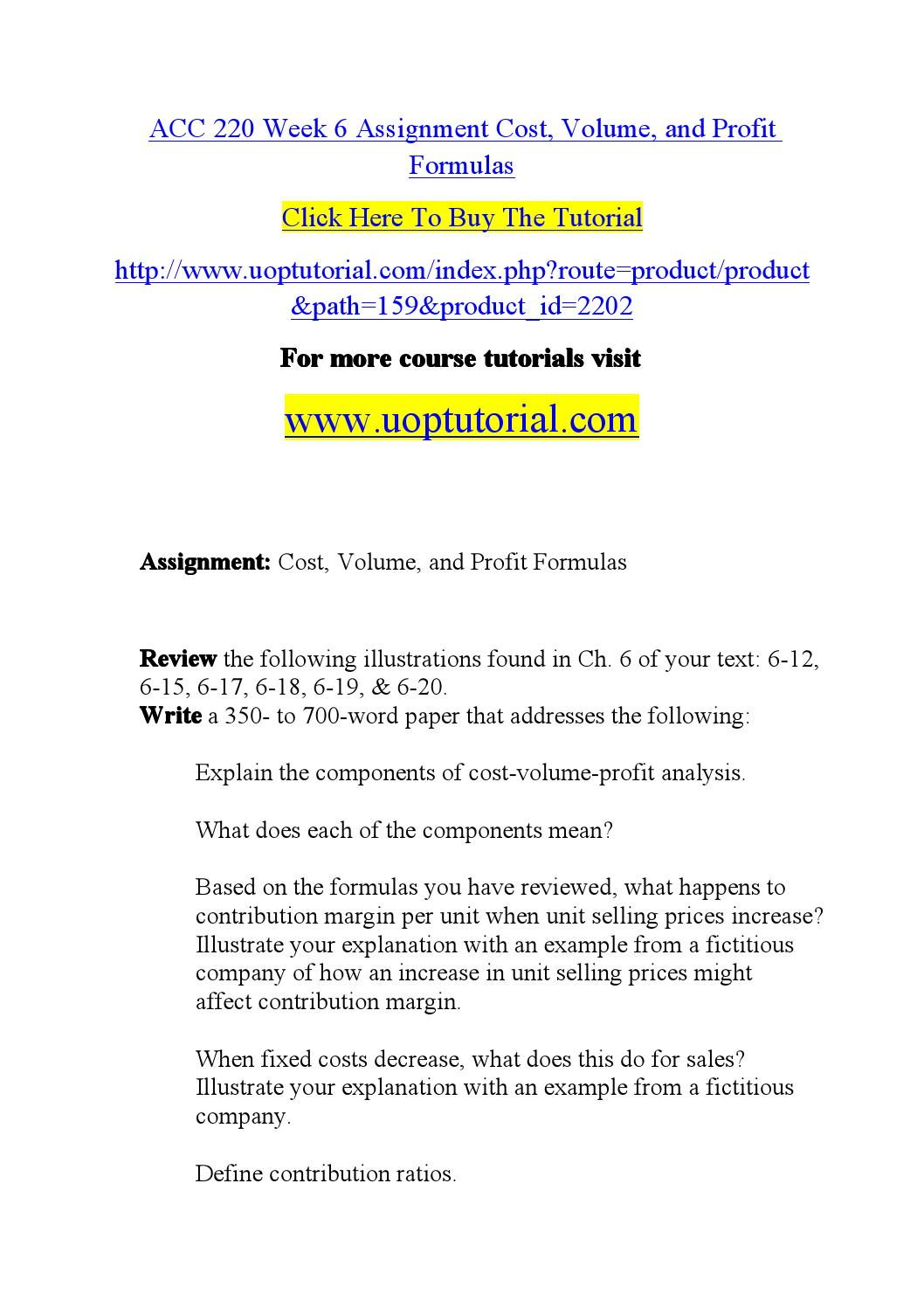 Acc 220 week 6 assignment cost by happy1106 - issuu