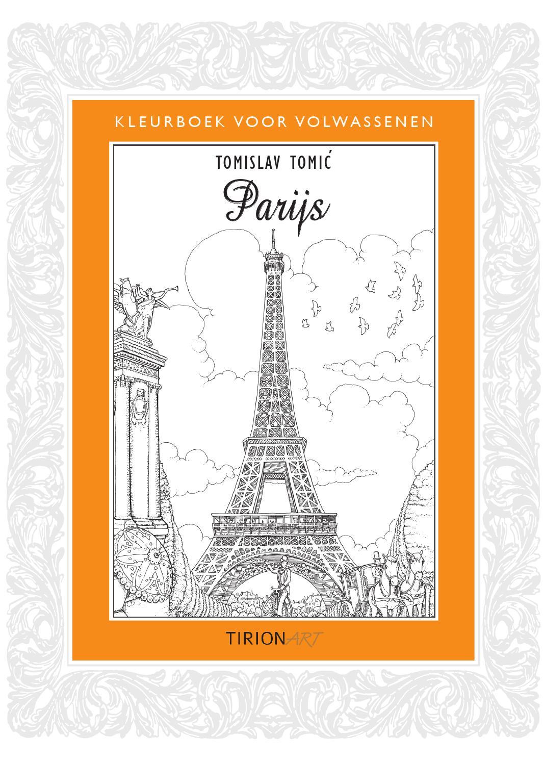 inkijkexemplaar kleurboek voor volwassenen parijs by