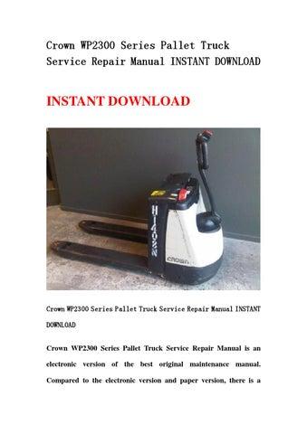 crown wp 2300 service manual