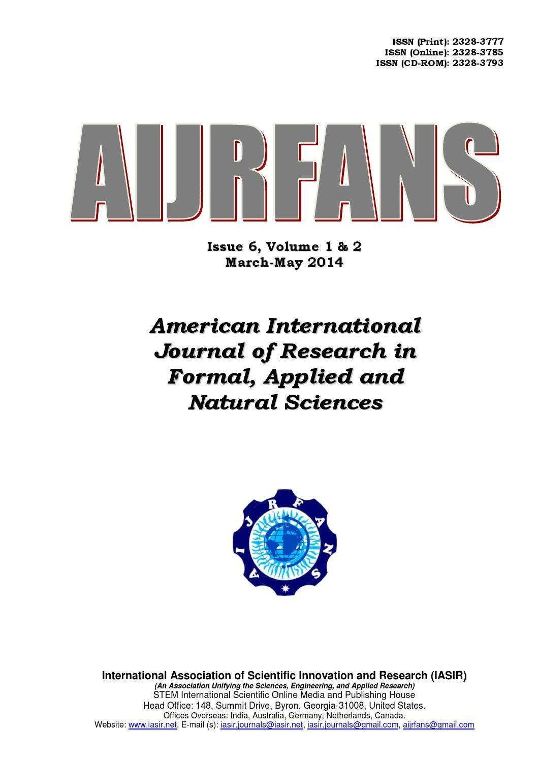 Aijrfans Vol1 Print By Iasir Journals Issuu Cirsim Electronic Circuit Simulator Explore Engineering
