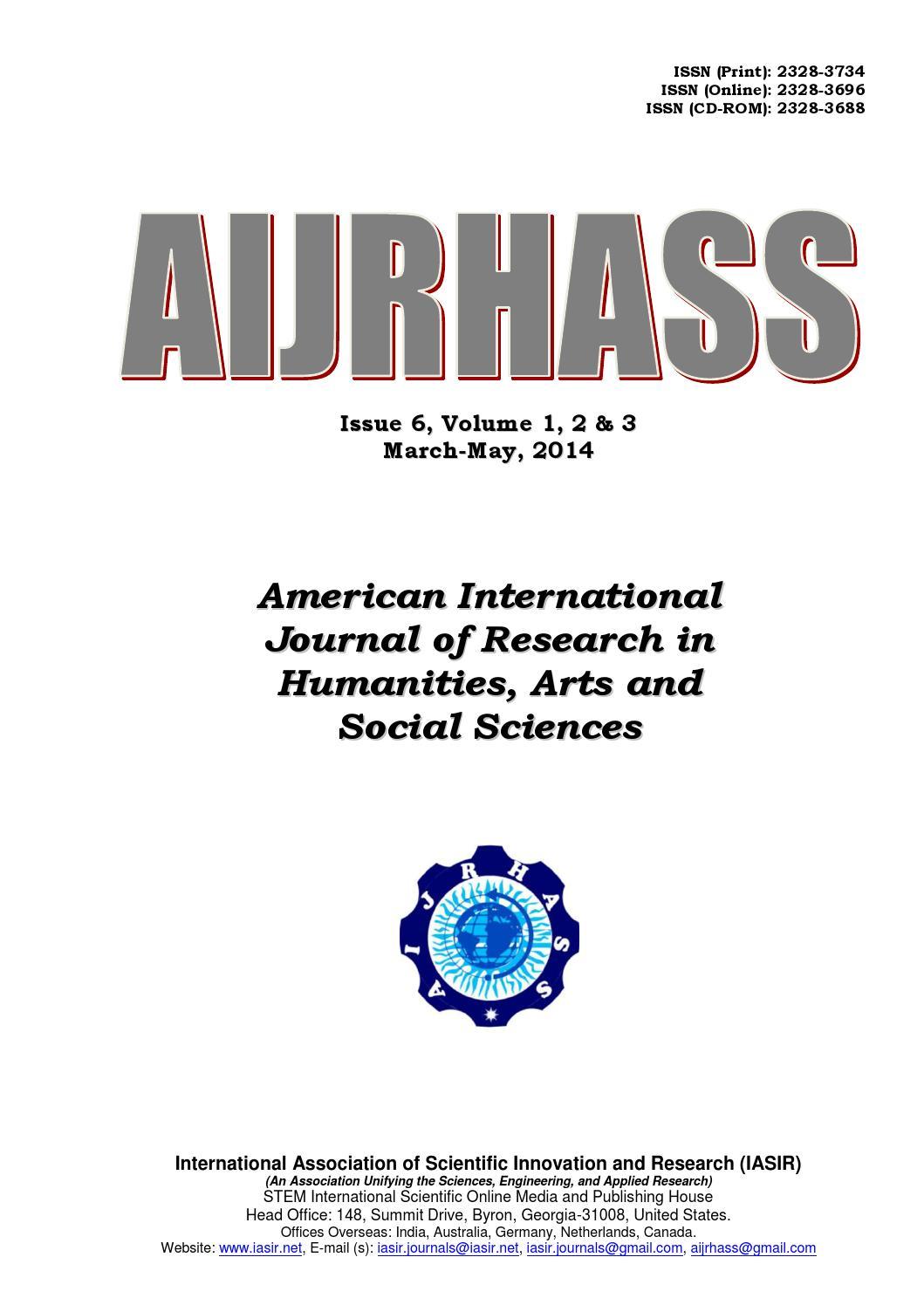 aijrhass vol2 print by iasir journals issuu