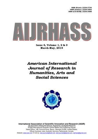Aijrhass vol3 print by iasir journals - issuu