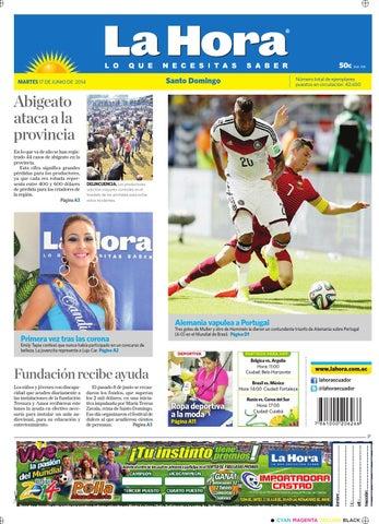 Santo Domingo 17 junio 2014 by Diario La Hora Ecuador - issuu fbb266eaa86c1