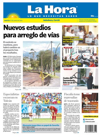 Imbabura 17 junio 2014 by Diario La Hora Ecuador - issuu 60d5880383750