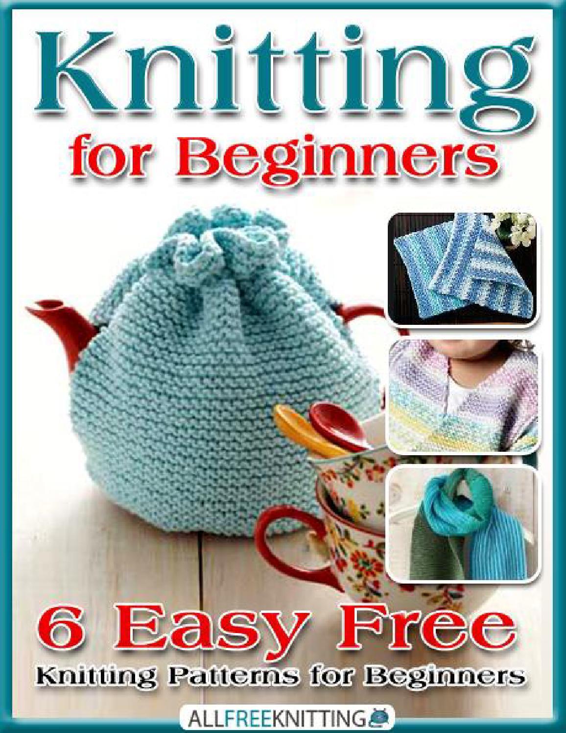 Knitting Book For Beginners : Knitting for beginners easy free patterns