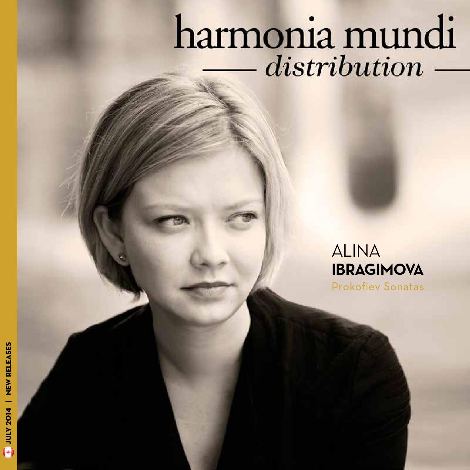 July 2014 New Releases harmonia mundi Canada by harmonia