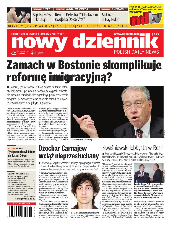 Nowy Dziennik 20130422 By Nowy Dziennik Issuu