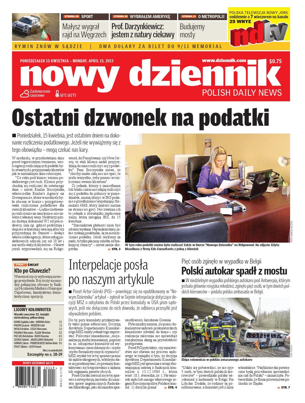 Nowy Dziennik 20130415 By Nowy Dziennik Issuu