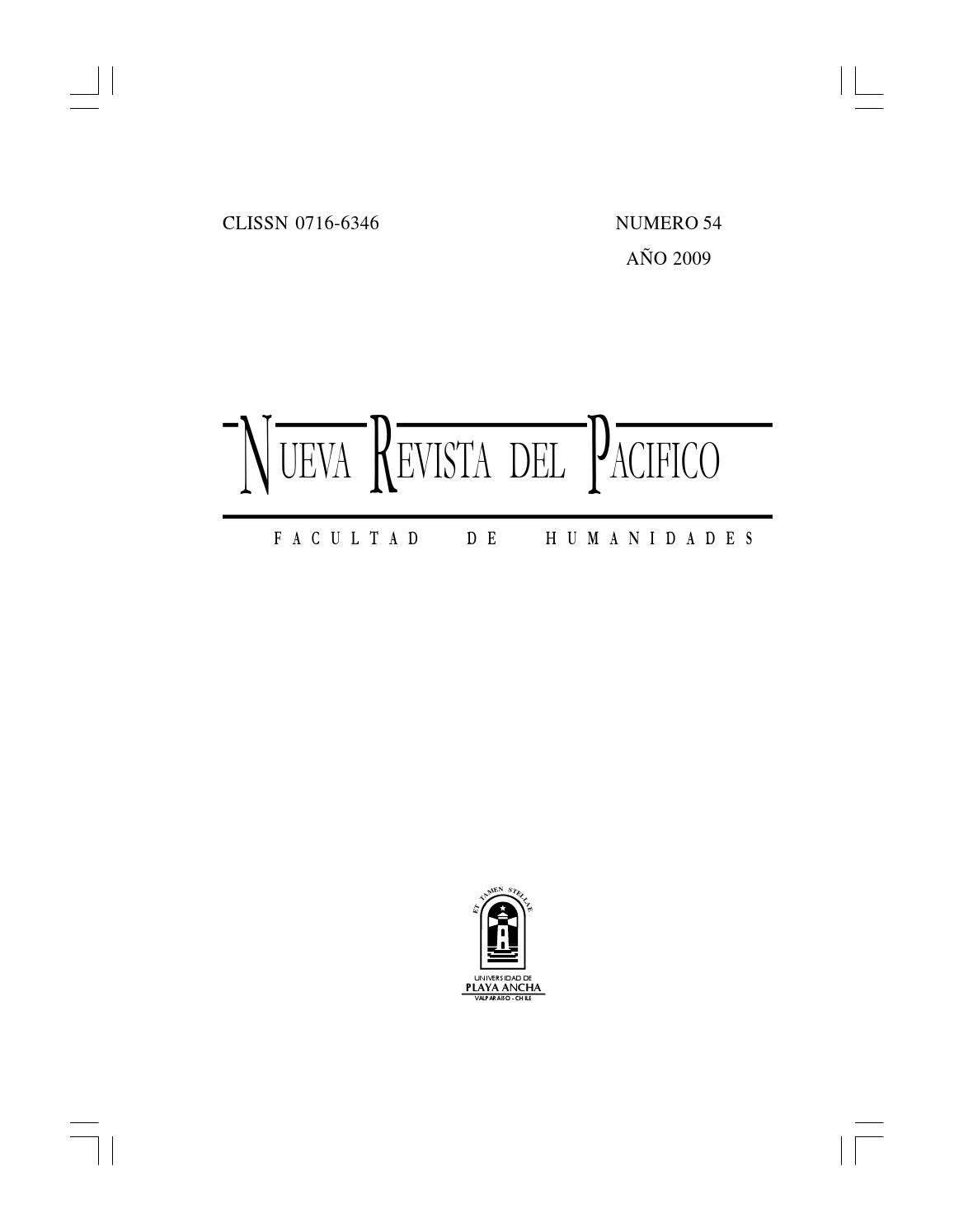 Nueva revista del pacífico nº54 55 2009 2010 by Bibliotecas UPLA - issuu