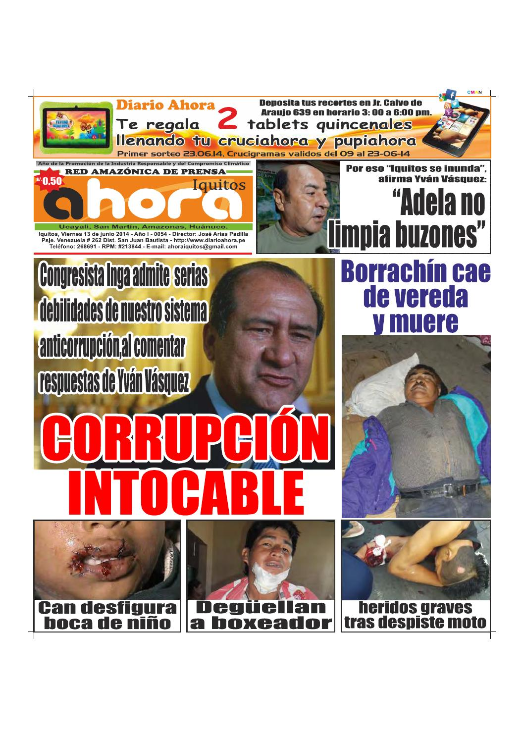 17 06 14 diario ahora iquitos by Jonatan Arias - issuu