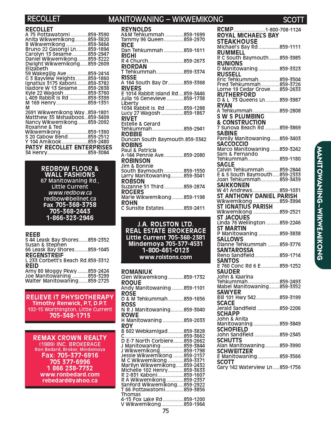 Big Red Phone Book by Manitoulin Expositor - issuu