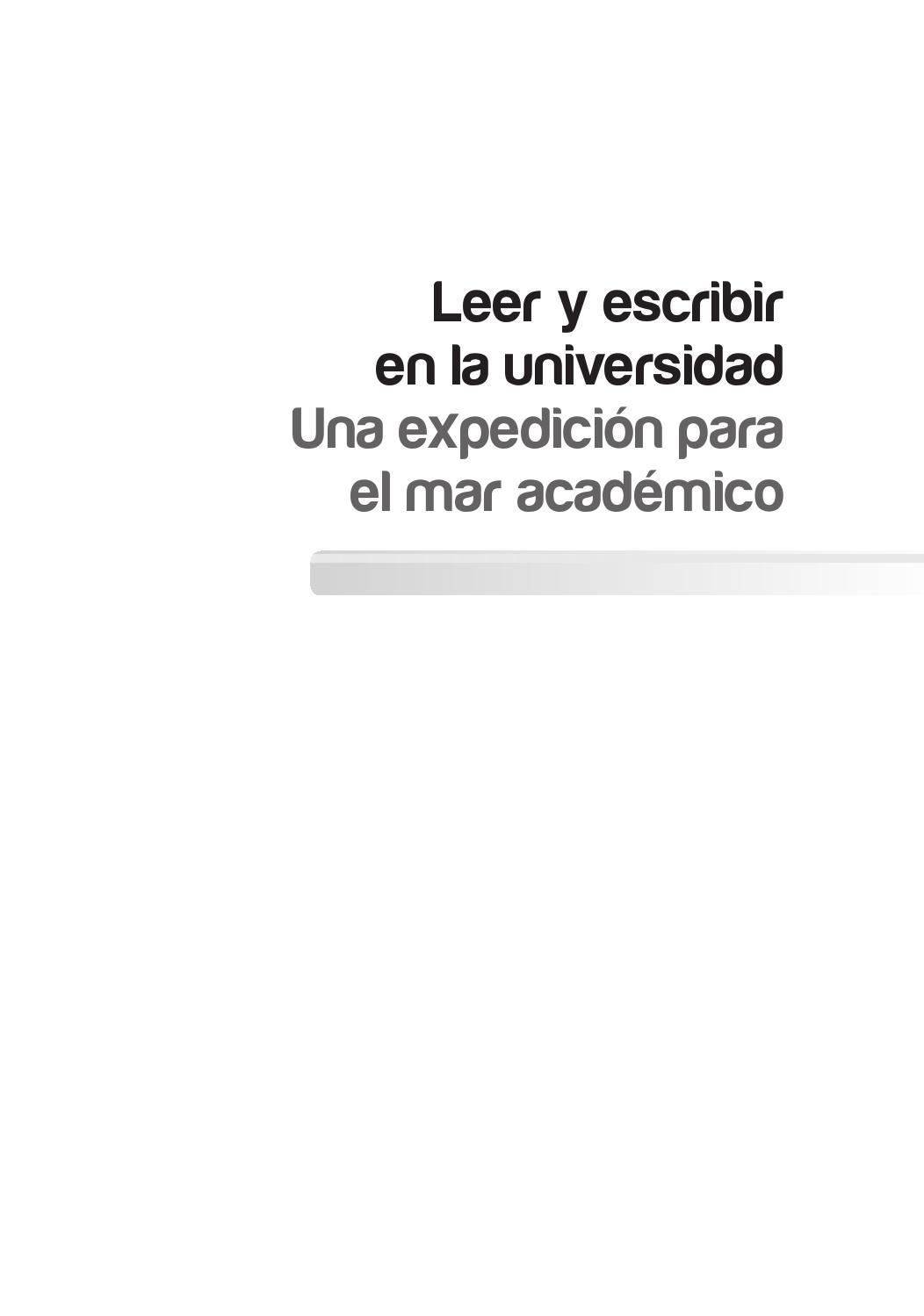Leer y escribir en la universidad final artes by Martha Cecilia ...